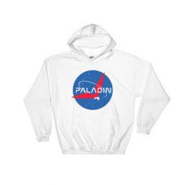 Paladin Parody Hooded Sweatshirt – White, S