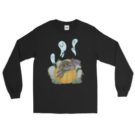 Batty for Pumpkins Long Sleeve T-Shirt