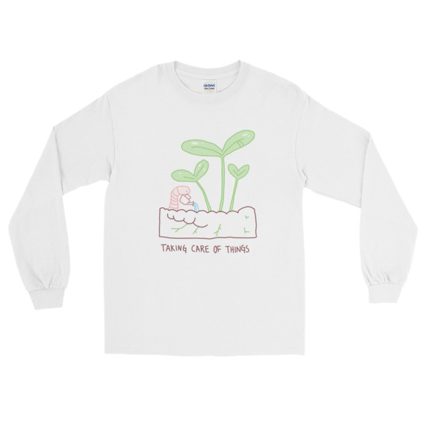 Taking Care Of Things Long Sleeve T-Shirt Cavetown