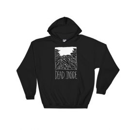 Dead Inside White Hooded Sweatshirt