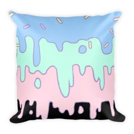 Kawaii Pastle Slime Sprinkle Square Pillow
