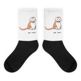 Sir Foldy Cat Nerdy Socks