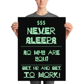 $$$ Money Never Sleeps Poster