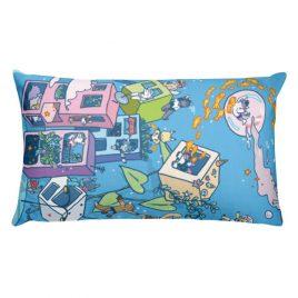 Water Blob Rectangular Pillow