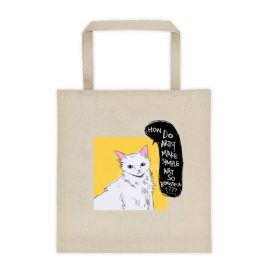 how? I dont understand – (front and back print) Tote bag