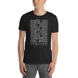 CATKNOWN PLEASURES. Parody of Unknown Pleasures Shirt