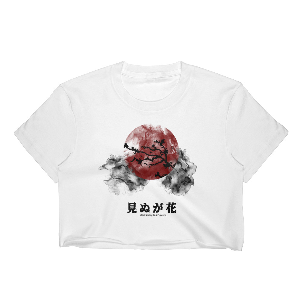Not Seeing Is A Flower Crop Top