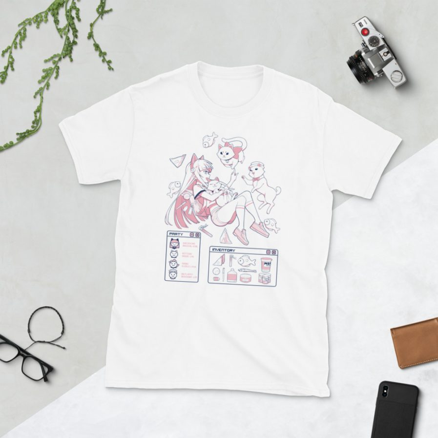 Aesthetic Anime Shirt With Cats Image