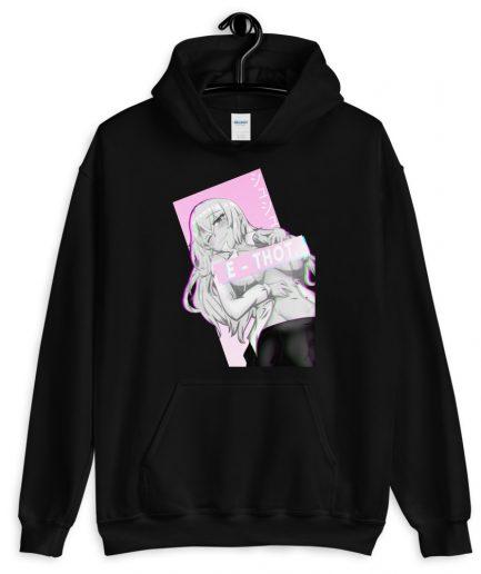 E thot anime girl hoodie