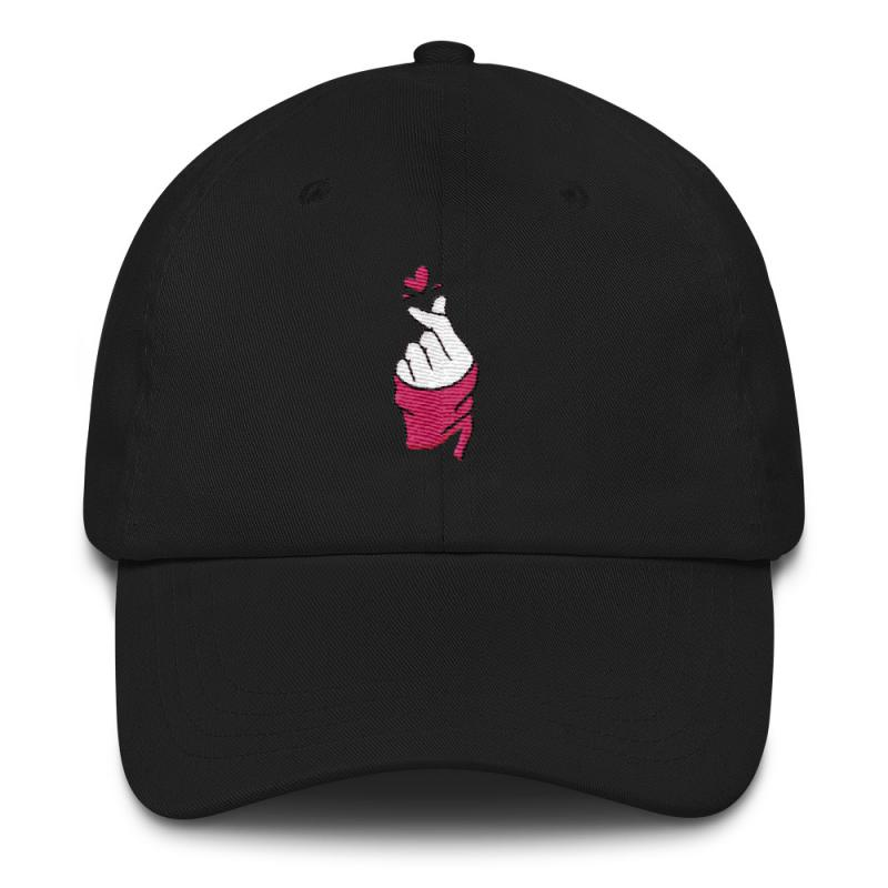 Finger Heart Anime Dad Hat