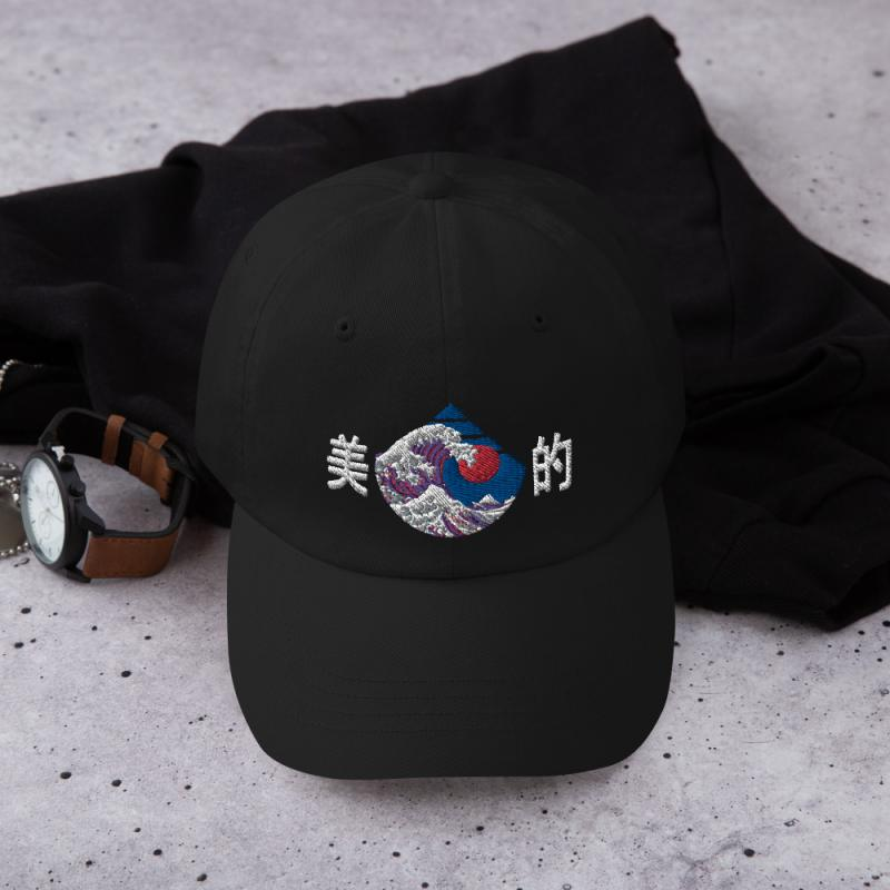 The Great Wave Aesthetic Anime Themed Dad HAt